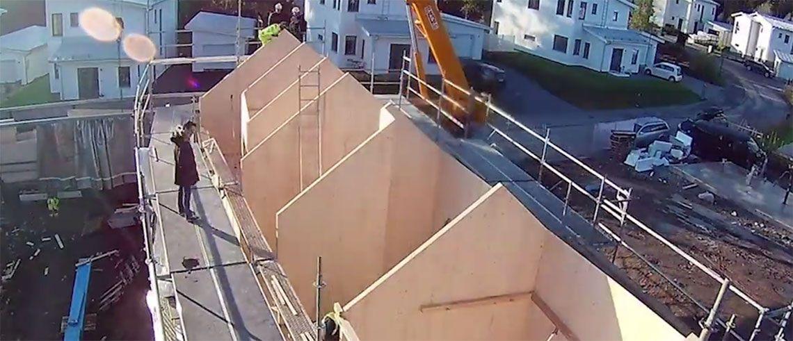 Ett hus blir till i Åkersberga